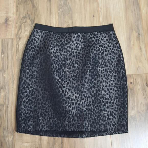 Ann Taylor Dresses & Skirts - Ann Taylor Black Leopard Print Skirt
